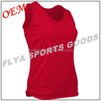 custom wholease plain sleeveless women's running singlet for Gym