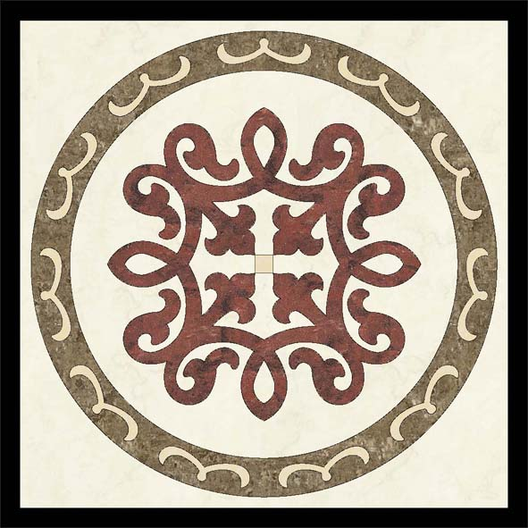 high density waterjet inlay medallions With competitive price