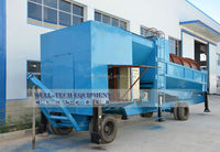 High recovery mini mobile gold ore washing plant in Congo