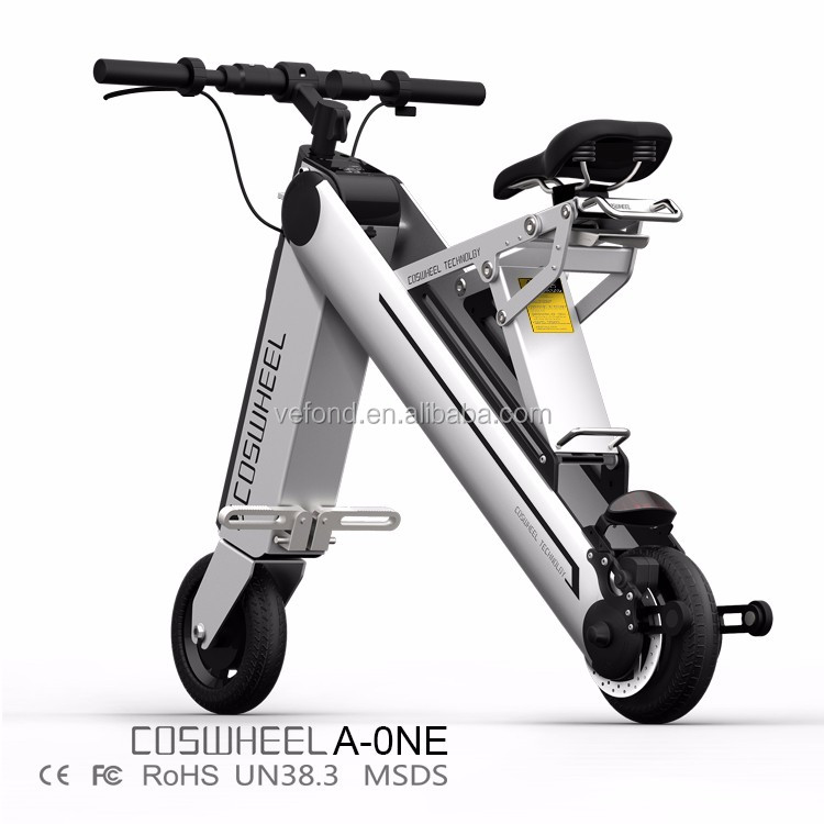 2017 newest electric folding bicycle battery with 350W Brushless Motor