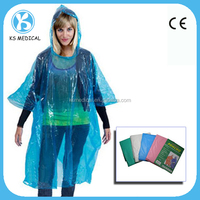 PE plastic raincoat disposable rain poncho