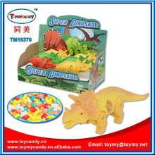 2017 hot selling products super plastic dinosaur toys candy good promotion gift