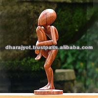 Single Yoga Statue Modern Art