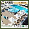 Outdoor terrace waterproof plastic wood plank flooring anti-slip wpc outdoor swimming pool flooring