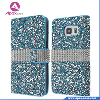 Luxury case for cell phone With Rhinestone For iphone 6 case leather