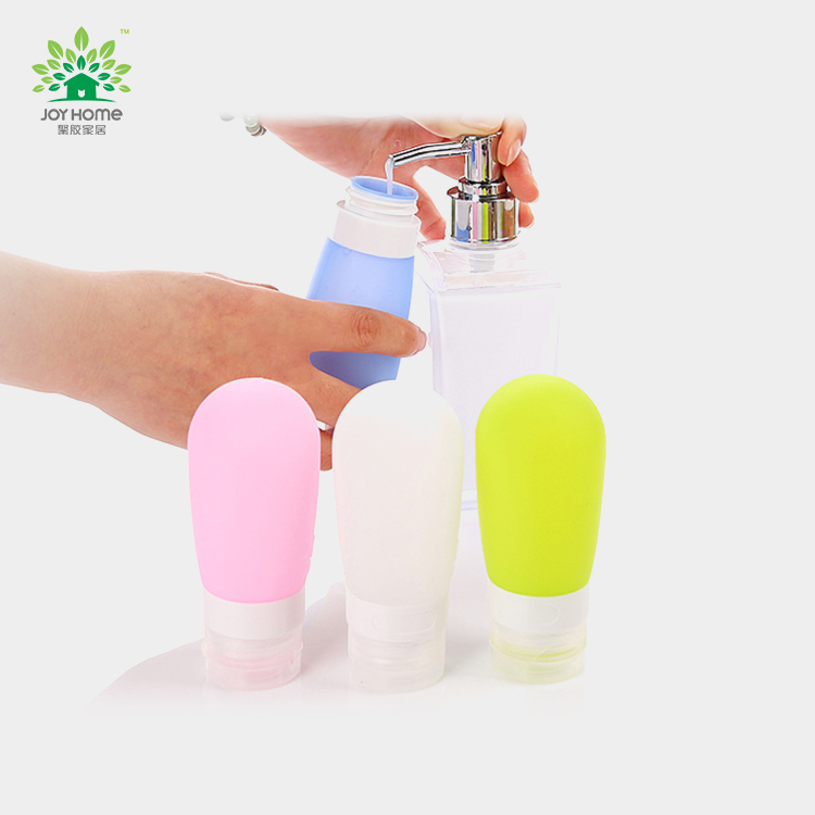 80ml Cosmetic lotion silicone squeeze bottle/ Travel Cosmetic Packaging Bottle