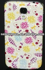 Colorful painting raindrop plastic case for samsung i9500