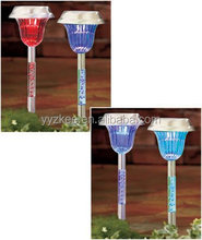 color changing LED acrylic solar garden spike light from China suppliers