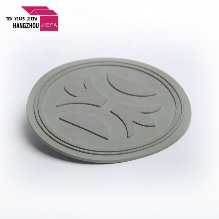 Circle Shape Custom Embossed 3D Rubber Patch for Garment