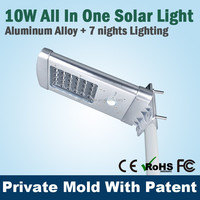 All In One Aluminum Solar Garden Light Part With Super Bright Led