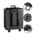 All black aluminum tool case makeup suitcase multiple instrument trolley case