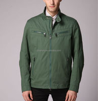 Vintage Design Fashion Green Casual Men's Lined Race Jacket