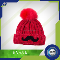 Colourful winter hat, beanie hats/winter hat with ball