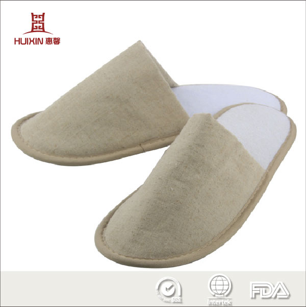 100% Natural cotton hotel slippers Natural cotton slippers for hotel