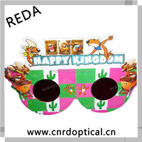 different shaped colorful printed top quality OEM/OEM service 3d paper eclipse shades made in China