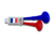 2018 World Cup football fans plastic French 2 tones cheering horn/World Cup hot sale vuvuzela