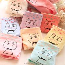 Girl cartoon cat cotton candy-colored panties , underwear women sexy