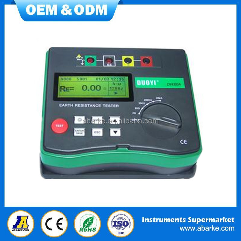Earth <strong>Tester</strong> DY4300A Digital Ground Resistance <strong>Tester</strong> Meter