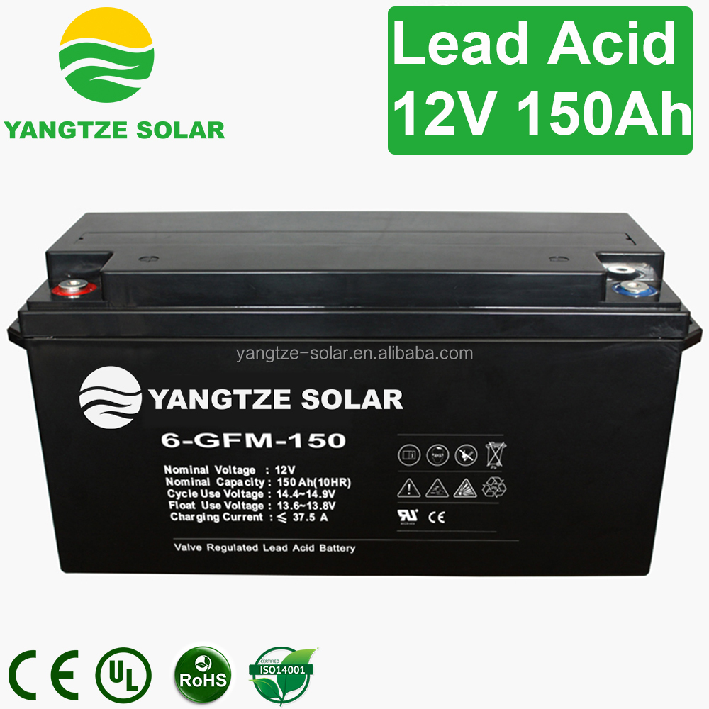 valve regulated lead acid dry battery 12v 150ah with price for ups