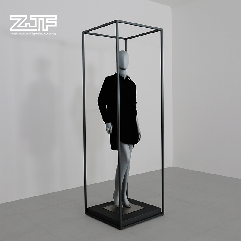 Metal chrome full body dummy stand display unisex dress form mannequin stand for clothes