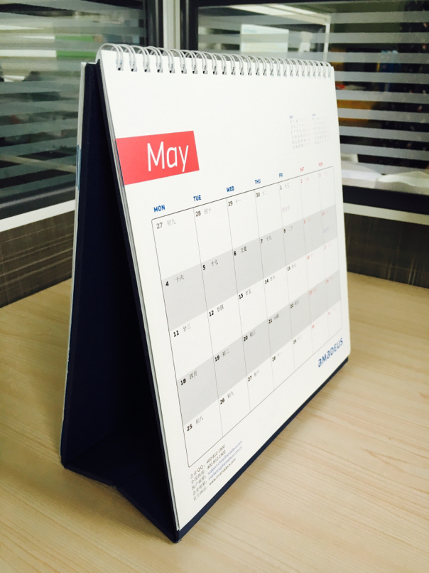 Innovative 2017 wholesale desktop calendar with stand