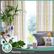 New design hot sale stripe linen curtain for home
