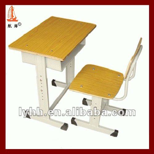 Adjustable single montessori primary cheap nursery school furniture desk and chair