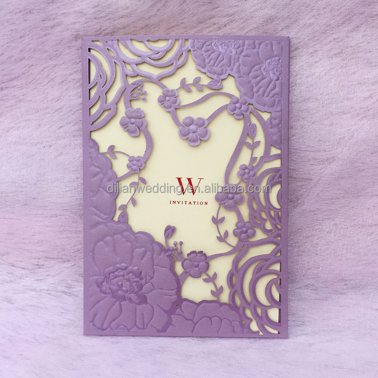 Nice lilac birthday <strong>card</strong> for girls