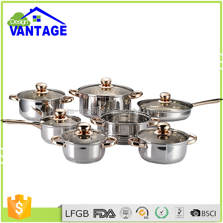 High quality royalty line cookware marble stainless steel soup steamer cooking sauce pot 16/18/20/24cm