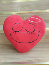 Embroidered red heart shaped throw pillows/Fashion microbeads red heart shaped pillow