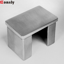 stainless steel cast iron large pipe end cap threaded inox 304 square tube end cap for handrail post
