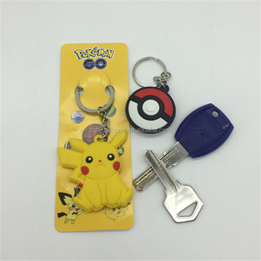 promotional soft PVC keychain/silicone cartoon keychain/rubber keychain