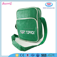 custom solid PU leather sling bag for teenagers