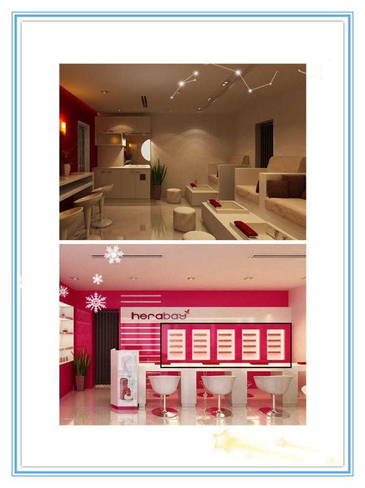 De tamaño personalizado moderno muebles de salón de uñas mesa de