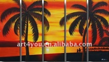 palm tree morden oil paintings