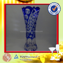 Antique Tall Glass 580ML Weddings Decoration Vase White