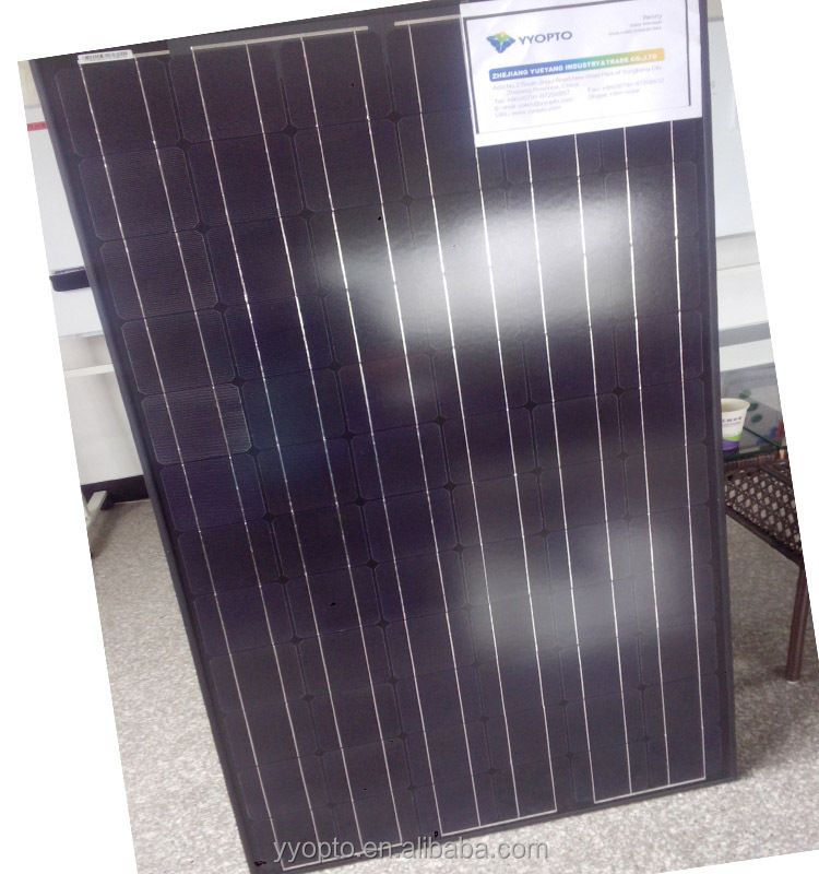 200W black mono solar panel back cover 72pcs high efficiency monocrystalline cells
