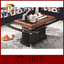 CT-1013-1 Cheap Glass Coffee Table in Black Color/Coffee Table in Living Room