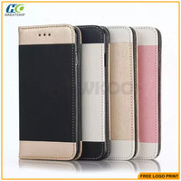 New dual color PU leather wallet case for IPhone 6S various colors mixed order cell phone accessories for IPhone 6S