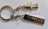 custom girl charm metal keychain