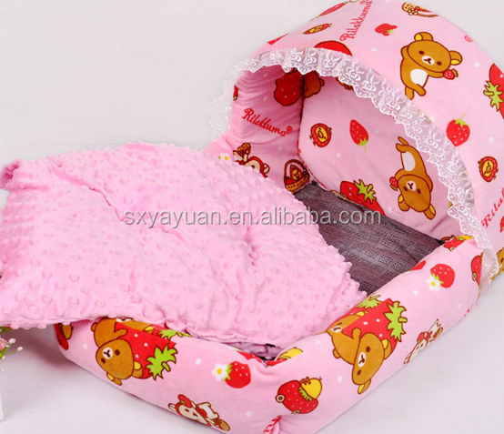 Padded Pet Bolster Bed Soft Warm Polar Fleece Pet Bed for Dogs