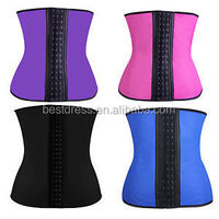 Wholesale In Stock Cheapest Blue 3 Hooks&Eyes Rubber Waist Cincher