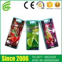 2015 Hot Sale Customized Scent PVC Air Freshener For Car Vent