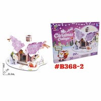 3d cardboard puzzle Christmas house children toys