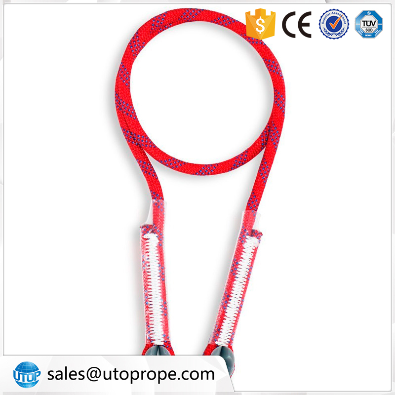 UTOP 10.5 mm 0.6 m Red Eye to eye Rock Climbing Double Braided Polyester Rope