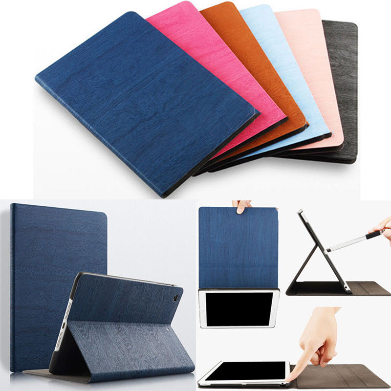 Hot Sale Protective Waterproof Shockproof Colorful PU Leather Stand Case Smart Cover for Apple iPad