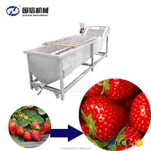 Contibuously non-stop high pressure water vegetable fruit bubble washing machine