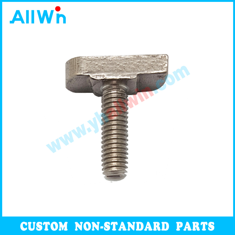 M5,M6, M8, M10, M12, M16, M20 Customized Metal Parts Nonstandard Fasteners Stainless Steel T Bolt