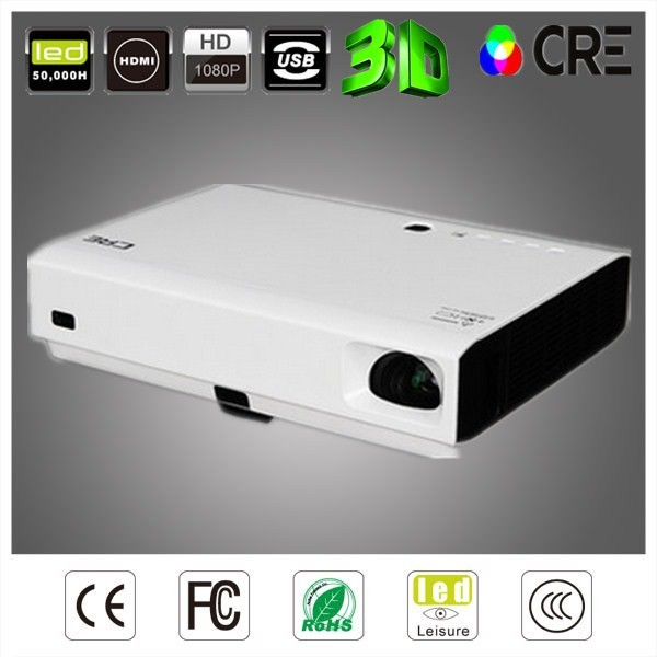 3D glasses Newest 3000 lumens 3D projector DLP Laser Portable proyector Video VGA TV HDMI USB AV