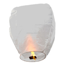 ECO friendly flame resistant flying paper sky lantern chinese kongming lantern